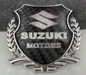 3D Metal Silvery Car VIP Carbon Fiber Sticker Emblem Side Decal Badge for Suzuki